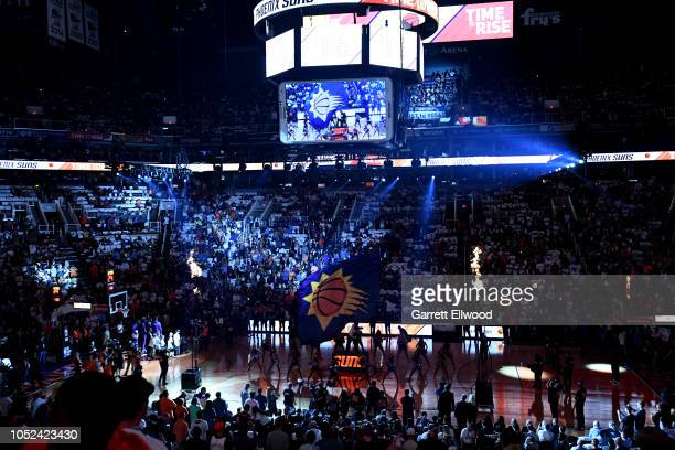 A general view of the arena prior to the game between the Dallas Mavericks and the Phoenix Suns on October 17 2018 at Talking Stick Resort Arena in...