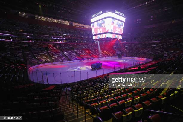 General view of the arena prior to the game between the Florida Panthers and the Tampa Bay Lightning in Game One of the First Round of the 2021...