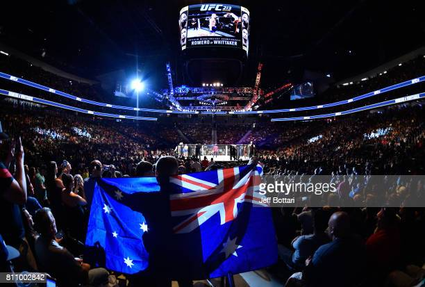 A general view of the arena prior to the interim UFC middleweight championship bout betwee Robert Whittaker of New Zealand and Yoel Romero of Cuba...
