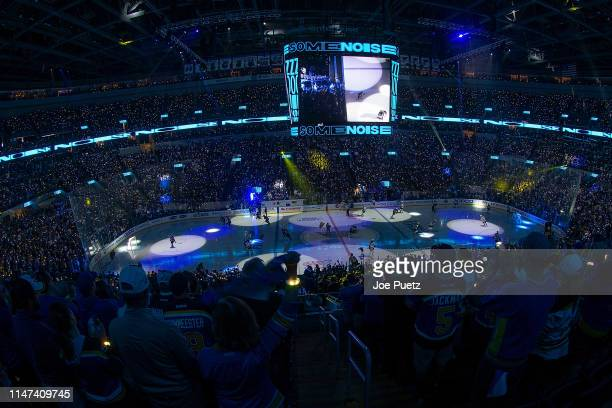 General view of the arena prior to the start of a game between the St. Louis Blues and the Boston Bruins in Game Three of the 2019 NHL Stanley Cup...