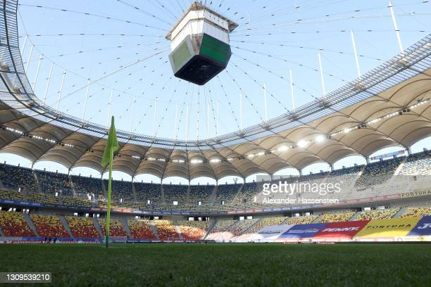General view of the Arena prior to the team Germany training session at Arena Nationala on March 27, 2021 in Bucharest, Romania.