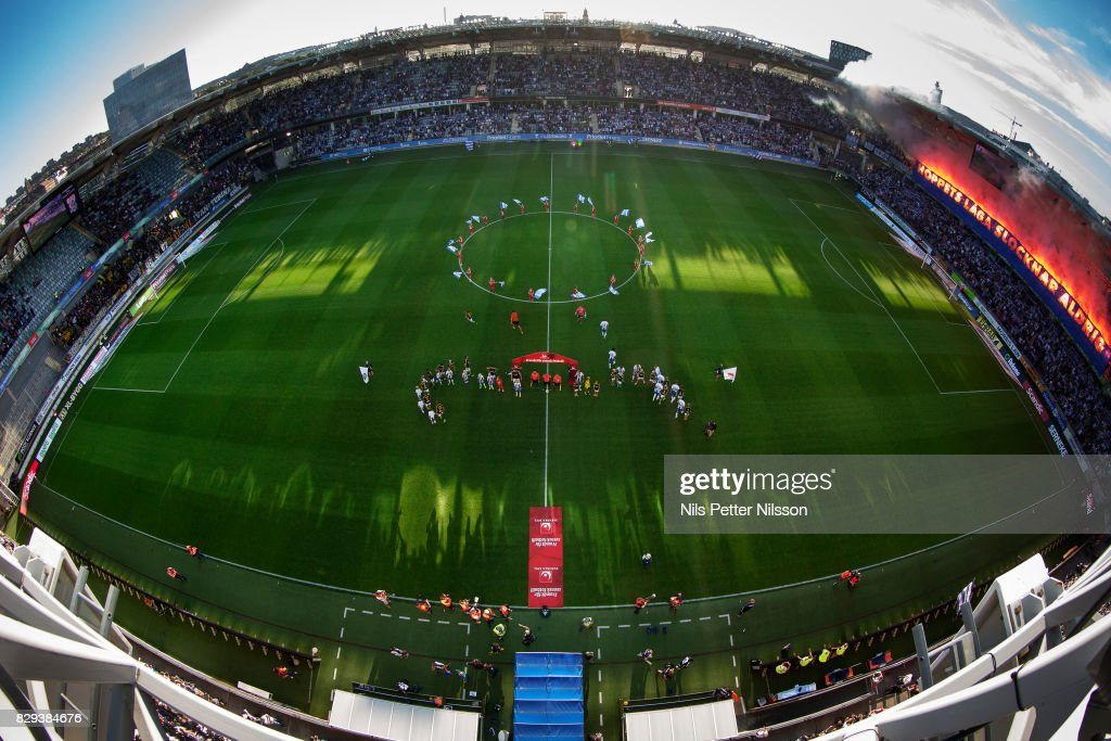 General view of the arena prior to the the Allsvenskan match between IFK Goteborg and AIK at Gamla Ullevi on August 10, 2017 in Gothenburg, Sweden.