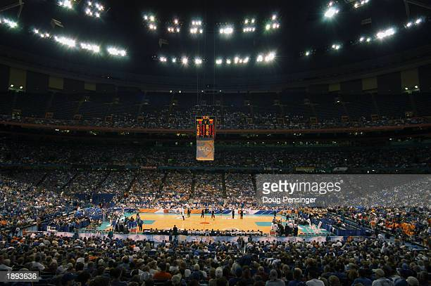 General view of the arena taken before the SEC Men's Basketball Tournament between the University of Kentucky and Vanderbilt University at the...