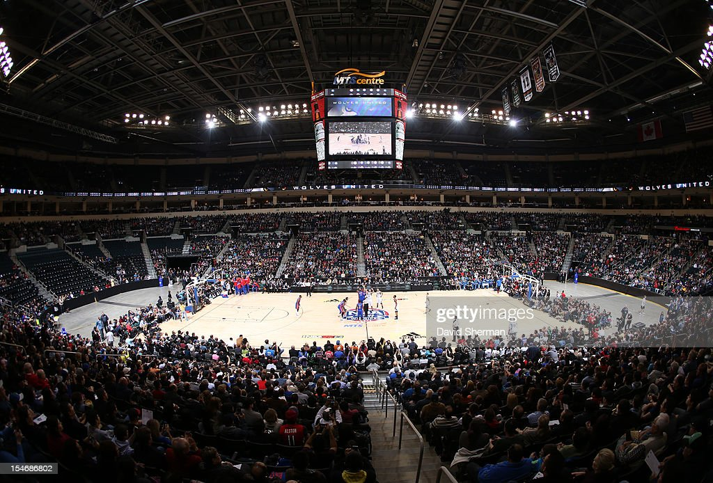 General view of the arenaeral view of the arena during the game between the Minnesota Timberwolves and the Detroit Pistons during the NBA preseason as part of NBA Canada Series 2012 on October 24, 2012 at the MTS Centre in Winnipeg, Manitoba, Canada.