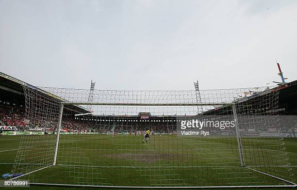 General view of the Arke stadium is seen during the Dutch Premier League match between FC Twente Enschede and Willem II at the Arke stadium on April...