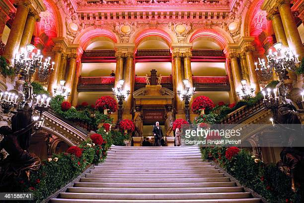 A general view of the Arop Charity Gala with 'Ballet du Theatre Bolchoi' held at Opera Garnier on January 9 2014 in Paris France