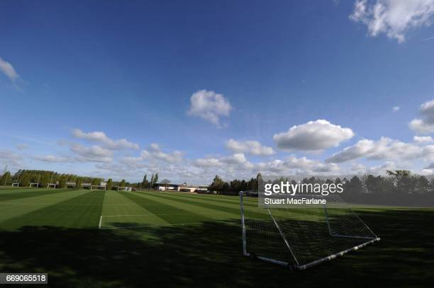 A general view of the Arsenal Training Ground at London Colney on April 16 2017 in St Albans England