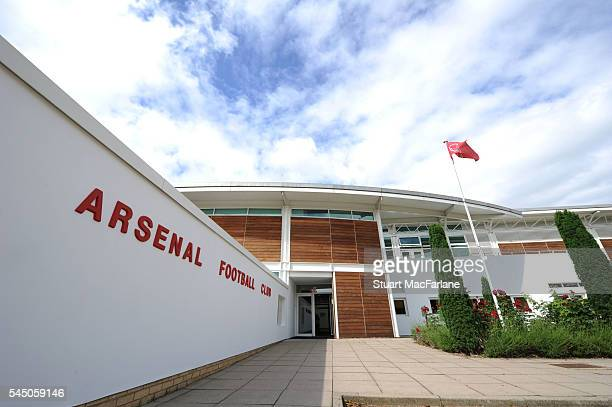 General view of the Arsenal training ground before a training session at London Colney on July 5, 2016 in St Albans, England.