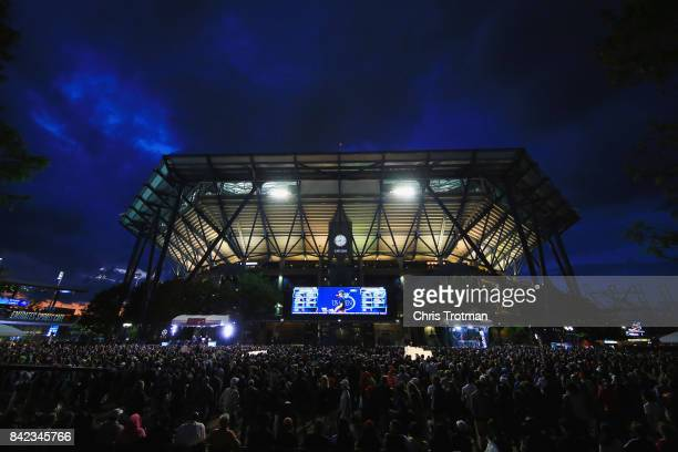A general view of the Arthur Ashe stadium on Day Seven during the 2017 US Open at the USTA Billie Jean King National Tennis Center on September 3...