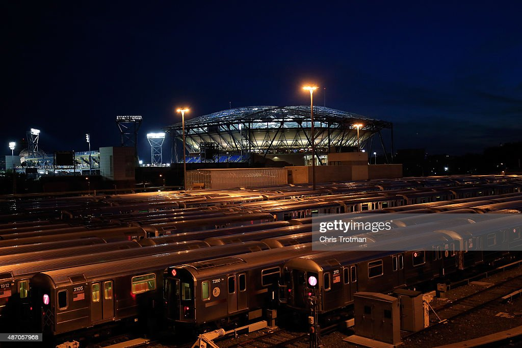 A general view of the Arthur Ashe Stadium on day six of the 2015 U.S. Open at the USTA Billie Jean King National Tennis Center on September 5, 2015 in the Flushing neighborhood of the Queens borough of New York City.