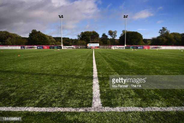 General view of the artificial pitch at Maiden Castle Sports Park before the Barclays FA Women's Championship match between Durham Women and Lewes...