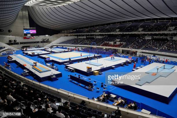 General view of the artistic gymnastics Friendship and Solidarity Competition at the Yoyogi National Gymnasium on November 08, 2020 in Tokyo, Japan.