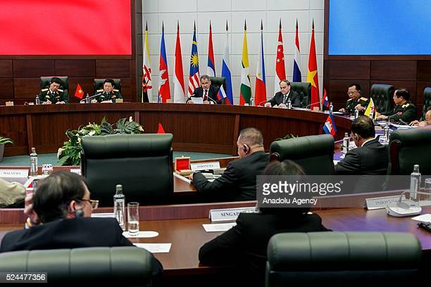 A general view of the ASEAN Defense Ministerial Meeting in Moscow Russia on April 26 2016