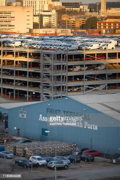 A general view of the Associated British Ports Fruit Terminal at the Port of Southampton on February 10 2019 in Southampton England The Port of...