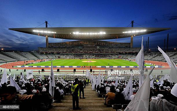 General view of the Ataturk Olympic Stadium before the UEFA Europa League Round of 32 match between Besiktas JK and Liverpool FC on February 26 2015...