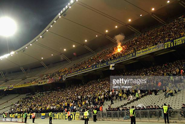 General view of the Ataturk Olympic Stadium during the Turkish Cup Final between Galatasaray and Fenerbahce May 11 2005 in Istanbul, Turkey.