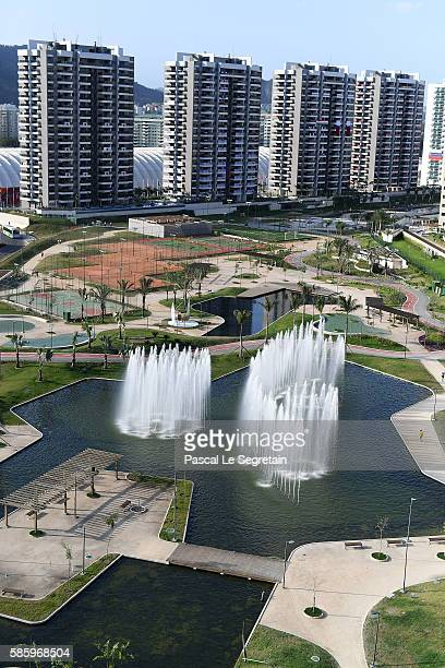 General view of the Athletes village is seen on August 4, 2016 in Rio de Janeiro, Brazil.
