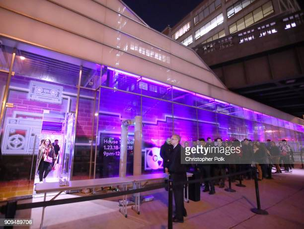 A general view of the atmopshere during Spotify and Mastercard present St Vincent and Maggie Rogers at Mastercard House on January 23 2018 in New...