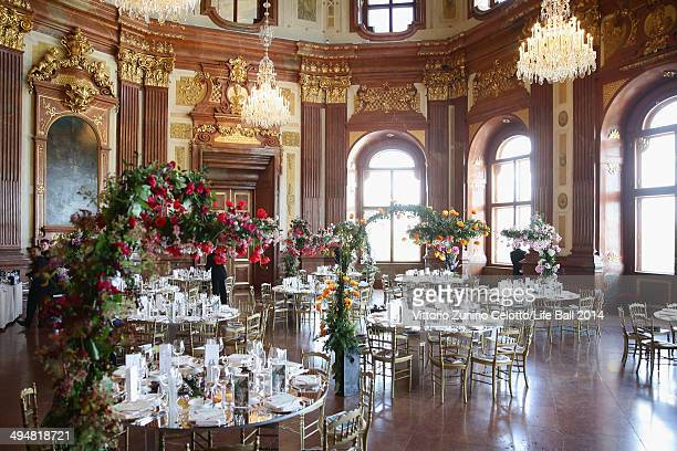 A general view of the atmosphere ahead of the Life Ball 2014 First Ladies Luncheon at Belvedere Palace on May 31 2014 in Vienna Austria