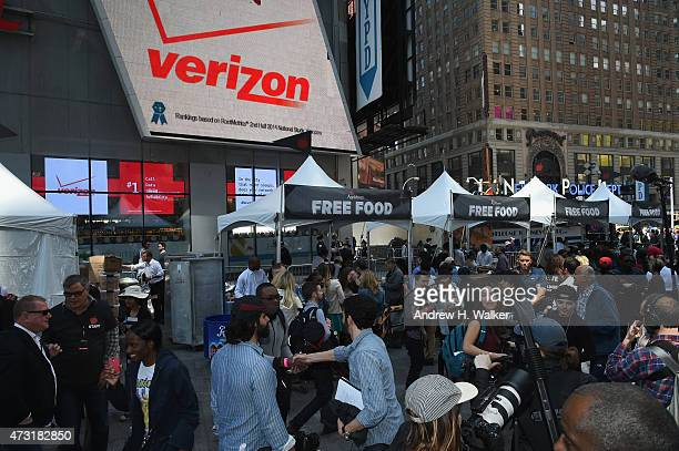 A general view of the atmosphere as Applebee's Hosts Taste the Change Fest in Times Square introducing New Menu on May 13 2015 in New York City