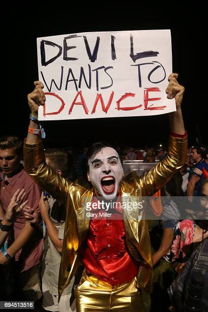 General view of the atmosphere as fans wait for U2 to perorm during day 2 of the Bonnaroo Music & Arts Festival on June 9, 2017 in Manchester,...
