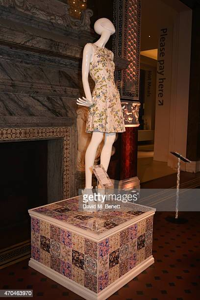 A general view of the atmosphere as Oasis and The Victoria and Albert Museum unveil their exclusive print inspired collection at The Victoria and...