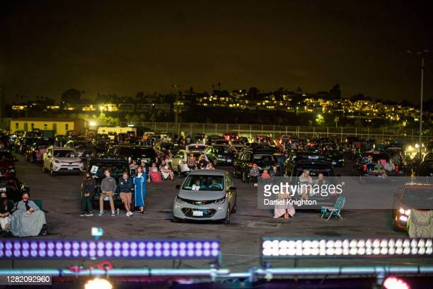 General view of the atmosphere as The Beach Boys perform on stage at Del Mar Fairgrounds on October 24, 2020 in Del Mar, California. Due to ongoing...