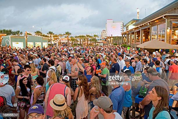 A general view of the atmosphere as the sun sets during the 2013 Hangout Music Festival on May 17 2013 in Gulf Shores Alabama