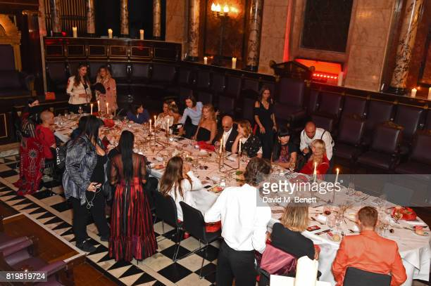 General view of the atmosphere at a dinner to celebrate the launch of the Luisaviaroma LVR Edition 3 project by Dilara Findikoglu at Andaz Liverpool...