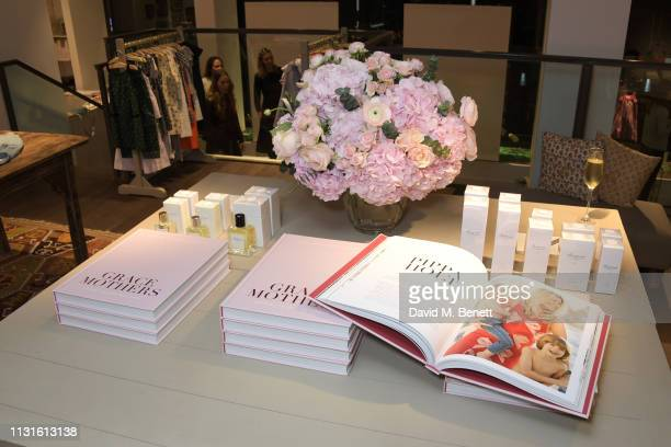 A general view of the atmosphere at a party celebrating Bonpoint x The Grace Tales at the Bonpoint Marylebone store on March 19 2019 in London England