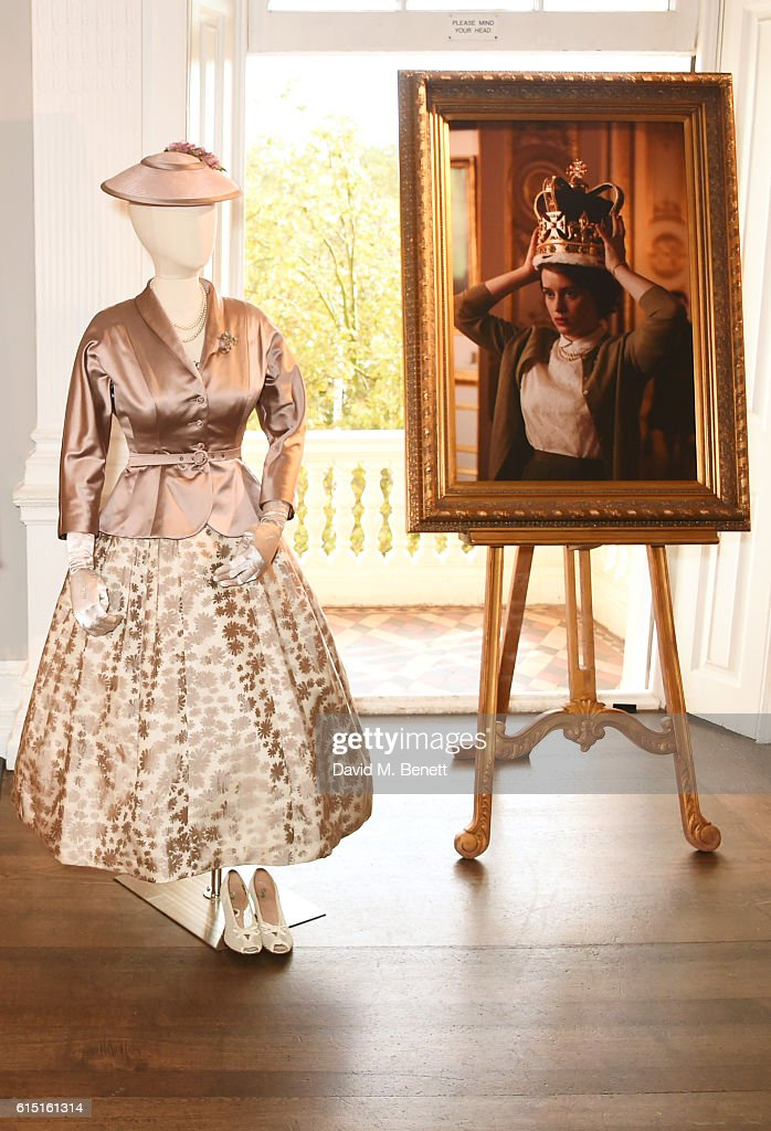 A general view of the atmosphere at a presentation featuring costumes from new Netflix Original series 'The Crown' with designer Michele Clapton at the ICA on October 17, 2016 in London, England.