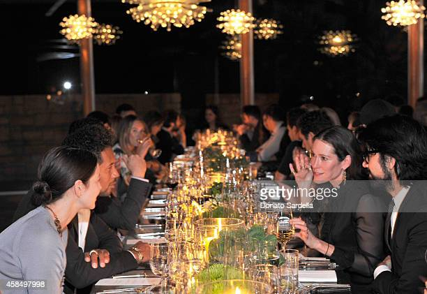 A general view of the atmosphere at a private dinner hosted by VOGUE to celebrate TOD'S Creative Director Alessandra Facchinetti on November 5 2014...