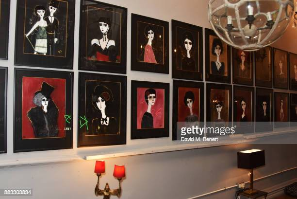 A general view of the atmosphere at a private view of artist Rebecca Leigh's exhibition hosted by Sadie Frost at Tann Rokka on November 30 2017 in...