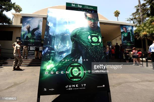 A general view of the atmosphere at a special screening of Green Lantern at Marine Corps Air Station Miramar on June 16 2011 in San Diego California