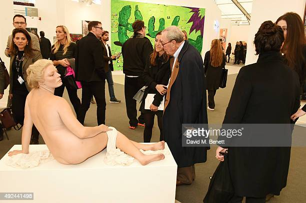 A general view of the atmosphere at a VIP preview of the Frieze Art Fair 2015 in Regent's Park on October 13 2015 in London England