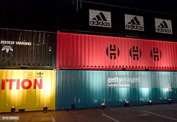 A general view of the atmosphere at adidas Creates 747 Warehouse St an event in basketball culture on February 16 2018 in Los Angeles California