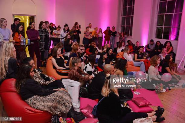 A general view of the atmosphere at Adwoa Aboah's Gurls Talk website launch party at Somerset House on October 12 2018 in London England