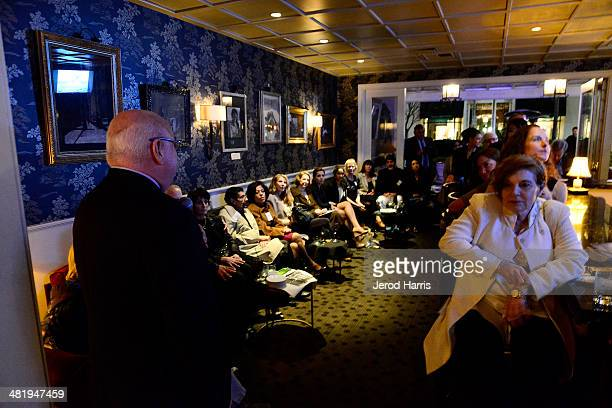 A general view of the atmosphere at an evening with Azzedine Downes President and CEO of the International Fund for Animal Welfare at Porta Via...