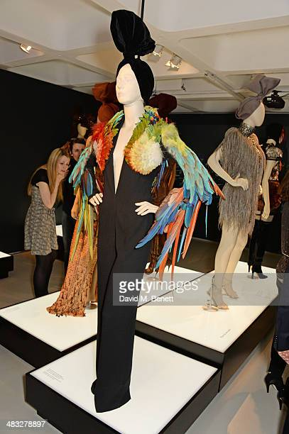 A general view of the atmosphere at an exclusive reception for 'The Fashion World of Jean Paul Gaultier From the Sidewalk to the Catwalk' showing at...