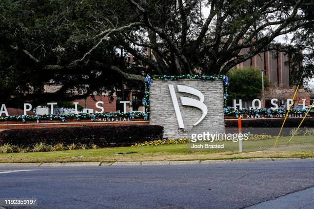 A general view of the atmosphere at Baptist Hospital following a shooting at the Naval Air Station on December 06 2019 in Pensacola Florida The...