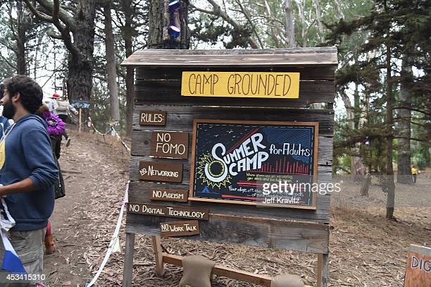 General view of the atmosphere at Camp Grounded at Digital Detox Analog Zone during day 2 of the 2014 Outside Lands Music and Arts Festival at Golden...