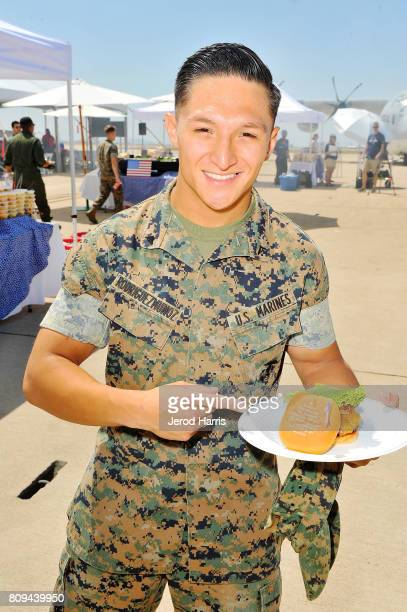 A general view of the atmosphere at Carnival Cruise Line's First Ever Socially Powered BBQ at Marine Corps Air Station Miramar on July 5 2017 in San...