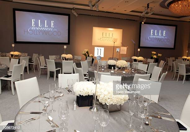 A general view of the atmosphere at ELLE's 17th Annual Women In Hollywood Tribute at The Four Seasons Hotel on October 18 2010 in Beverly Hills...