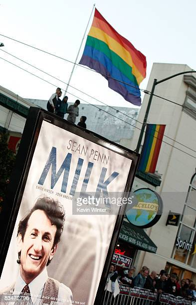 General view of the atmosphere at Focus Features' world premiere of 'Milk' held at The Castro Theatre on October 28 2008 in San Francisco California