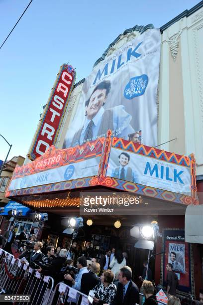 General view of the atmosphere at Focus Features' world premiere of Milk held at The Castro Theatre on October 28 2008 in San Francisco California