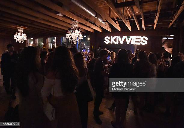 General view of the atmosphere at For Love and Lemons annual SKIVVIES party cohosted by Too Faced and performance by The Shoe at The Carondelet House...