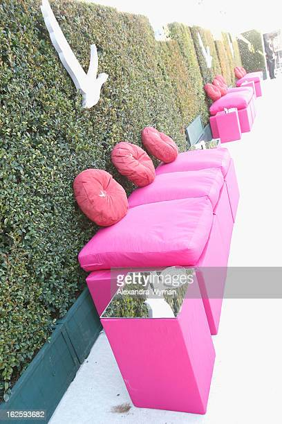A general view of the atmosphere at Grey Goose at 21st Annual Elton John AIDS Foundation Academy Awards Viewing Party at West Hollywood Park on...