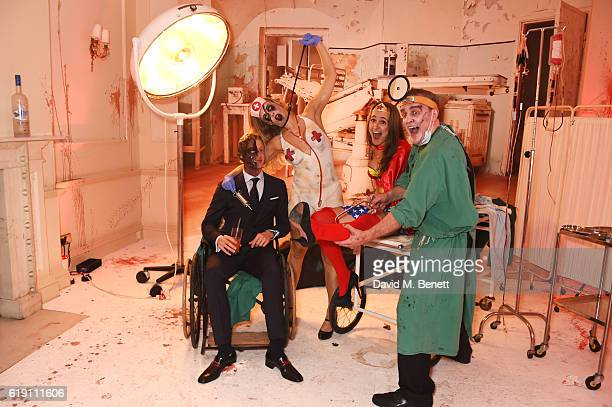 A general view of the atmosphere at Halloween at Annabel's at 46 Berkeley Square on October 29 2016 in London England