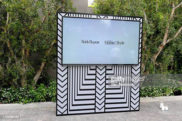 A general view of the atmosphere at Jeremy Renner's and Kristoffer Winters' celebration of the launch of Robb Report Home Style on June 6 2013 in Los...