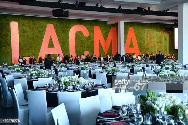 A general view of the atmosphere at LACMA's 50th Anniversary Gala sponsored by Christie's at LACMA on April 18 2015 in Los Angeles California